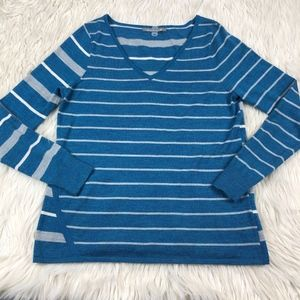 Smartwool Striped V-Neck Pullover Sweater